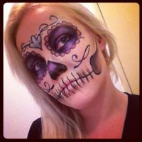 Day of the dead make up by FIZZINK