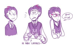 Randall human doodles by CatnipPacket