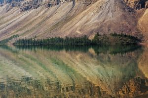 Crowfoot Mountain Reflection by EvaMcDermott