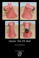 Hector The Pit Bull - Sculpture by leopardwolf