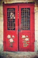 Mongolian red door by Hopscotchbaby