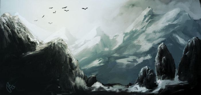 mountains by joie