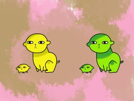 Lemon and Lime pups by MotherMaryBerry