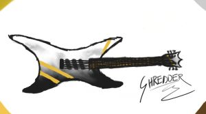 Guitar Drawing by sheckyll