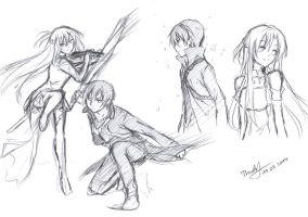 SAO_Sketches by Kite-d