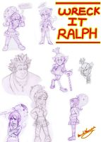 Wreck It Ralph Doodles by Veronyak