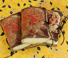 Little book with rose picture by gildbookbinders