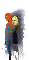 Spidey and Gwen by fooshigi