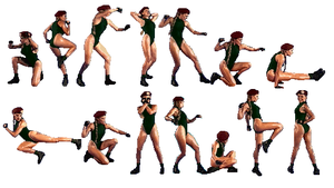 Cammy Sprites by gabriel444