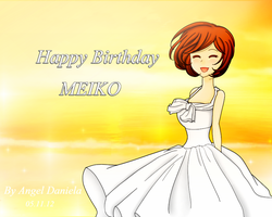 Happy Birthday MEIKO by AngelDaniela