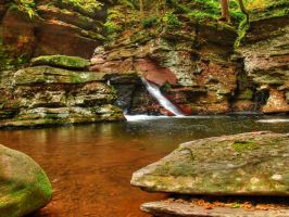Ricketts Glen State Park 105 by Dracoart-Stock