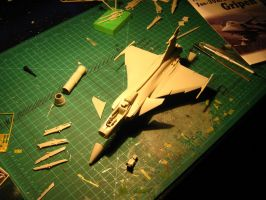 1/48 Scale JAS-39A/C Progress (Dry fit) by Coffeebean2