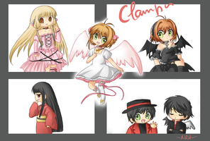 Clamp chibis -set- by Ailish-Lollipop