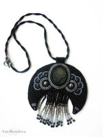 Beadwork: Hecate's Glance Lunar Charm by LinaIvelle