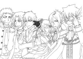 KHR - Masquerade LINEART by Rein-Pudding