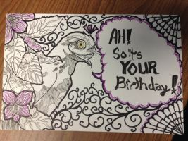 Birthday Card- Potoo by LiBoggs