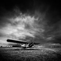 Aircraft by white-white