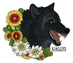 Commission - Arizona Black Wolf by Khalliys