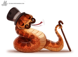 Daily Painting 902# Fancy Serpent by Cryptid-Creations