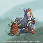 Alice in Wonderland and the Fake Turtle by Alcalambra