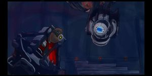Wheatley and GLaDOS by Pinkstar14