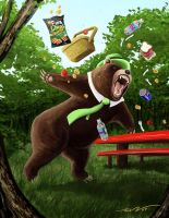 Yogi Bear Mauls Family of Five by artronin9