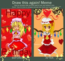 Draw this Again: Flandre by Whitlea-Chan