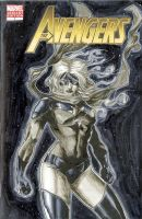 Ms Marvel Avengers 7 Sketch Cover by RichardCox