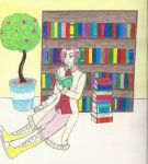 Marly the Bookworm by NeitoRibasGirl