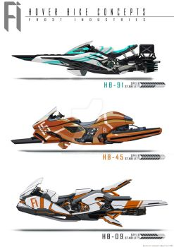 Hover Bike Side View Concepts by FrostKnight-IcE