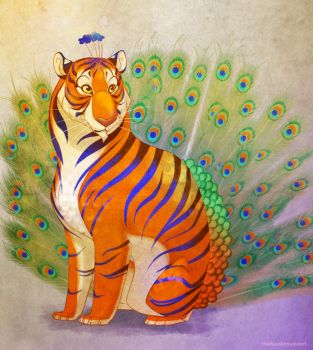 Peacock Tiger by autogatos