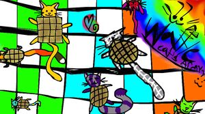 Waffle Cat's Minions!! by Art-game-lover