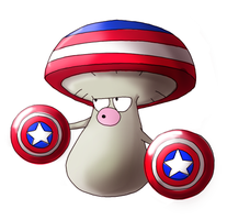 Amoonguss evolved into ... Captain America? by ice-cream-skies