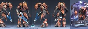 Halo 4 Elite Zealot Action Figure by BionicleSangheili86