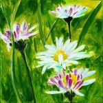 Daisies Triptych - Part one by maxine