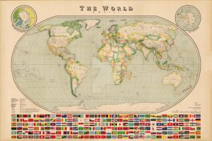 World Map - Vintage Style by Regicollis