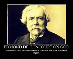Edmond de Goncourt on God by fiskefyren