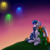 Gift Art: Fireworks by Shrineheart