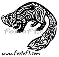 Hawaiian Tribal Pine Marten Tattoo by Foxfeather248