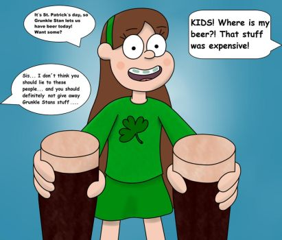 Mabel on St.Patricks day by DrawPaintWhatever