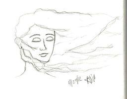 Hair blowing in the wind by anill11