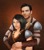 Akaira and Gage by ThreshTheSky