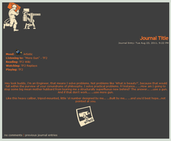 TF2 - Engineer Journal Skin by JadeRaven93