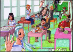 One Piece Highschool by xetoxgarshiz
