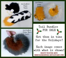 Tail Bundles :FOR SALE and READY TO SHIP: by MortaleRedWolf