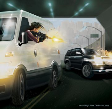Hong Kong Car Chase by LarryWilson