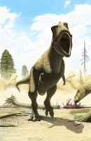 Tyrannosaurids from Kundur by Olorotitan