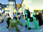 AC Pesters Her Meowrail At CanterCon by Prism-S