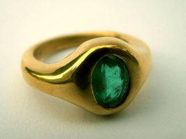 22k, emerald engagement ring by Mayavati