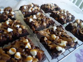 Triple Chocolate Salted Caramel Brownies by PnJLover